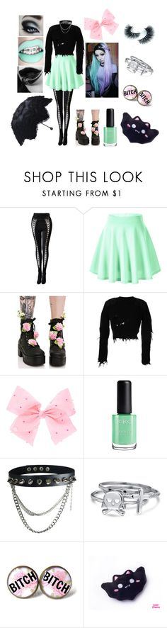 """""""Pastel Goth *cute*"""" by crewelladeville ❤ liked on Polyvore featuring Versace, Sugar Thrillz, Yeezy by Kanye West, SIWA and Bling Jewelry"""