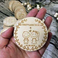 6d5e81c41 Encontrar Más Favores de partido Información acerca de Recuerdos de madera  para boda personalizados, imanes