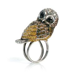 Novelty Owl Ring  by nOir Jewelry via @Fab $75
