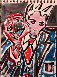 study for painting portrait Egon schiele 2015