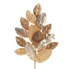 RAZ Magnolia Leaf Spray  Gold Made of Polyester Measures 24""