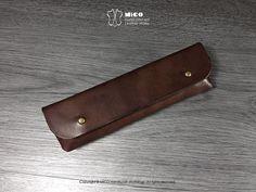 956286e0f9 MICO Leather Pencil bag   Pencil purse (Dark Brown)