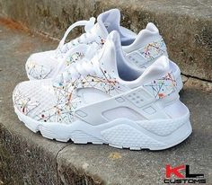 innovative design 10296 24eb7 Nike Air Huarache Multicolored Lines White Womens Shoes   Trainers Outlet  Online