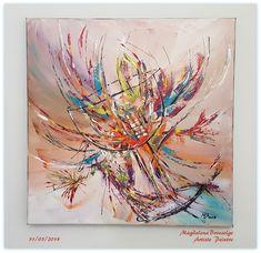 """""""Le Verre"""" Peinture acrylique sur toile coton 50x50cm MB Art"""
