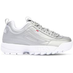 e9ef8ab6acab Fila Urban Women Disruptor Metallic Platform Sneakers (£120) ❤ liked on Polyvore  featuring
