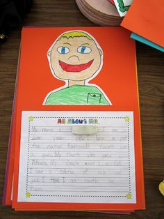 Teacher Bits and Bobs: Memory books 1st Grade Writing, Kindergarten Writing, Teaching Writing, Writing A Book, Teaching Ideas, Literacy, All About Me Project, All About Me Art, Beginning Of The School Year