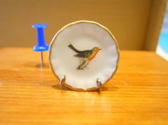 Vintage Looking  Bird Dollhouse Miniature by TheQuirkyCurioShoppe, $4.00
