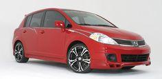 "STILLEN 2007 Nissan Versa customized with Sport Max 18x7.5"" wheels and Yokohama 215/35ZR 18 tires."