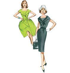 B5747 Butterick Retro Misses'/Misses' Petite Dress and Belt