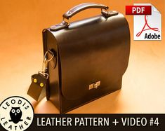 This digital listing is for a 19 page PDF leather pattern to make the messenger bag shown above. Also included in the price is a 2 hour 40 minute HD video where I show you how to make the item and give extra tips along the way. ★ Please be sure to click the orange +More link to read