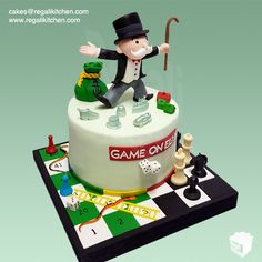 Board Games Cake | Monopoly, Snakes and Ladders, Chess | Cakes by The Regali Kitchen