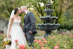 Southern garden wedding in Knoxville, Tennessee at Dara's Garden.