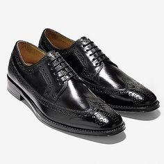 Cole Haan Lionel Long Wingtip Oxford Mens C13374-Blk Black Dress Shoes Size 10.5
