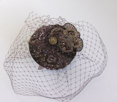 CLEARANCE. Chocolate veil cocktail hat. by talulahblue on Etsy, £28.00