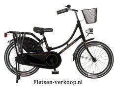 Omafiets Zwart 18 Inch | bestel gemakkelijk online op Fietsen-verkoop.nl