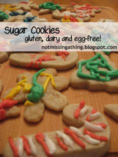 Cut-Out Sugar Cookies {gluten, dairy and egg-free} Recipe