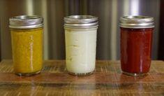 Πως θα φτιάξετε την δικιά σας κέτσαπ, μουστάρδα και μαγιονέζα από το μηδέν… Deeps, Salad Bar, Kitchen Hacks, Ketchup, Mason Jars, Spices, Food And Drink, Recipes, Mayonaise