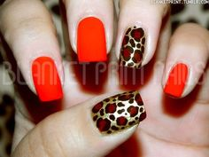 """Leopard Print Nails: Leopard Print Nails Nothing says """"siren"""" like lipstick red and leopard print. Joya of Blanket Print Nails combined the two sexy icons in one, easy manicure. Fancy Nails, Love Nails, Red Nails, Pretty Nails, Red Manicure, Chic Nails, Glam Nails, Red Nail Designs, Simple Nail Art Designs"""