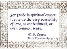 c.s. lewis quotes | Click. Pray. Love: 31 Days of C.S. Lewis Quotes: Day 3, Pride