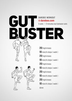 Gut Buster Workout by DAREBEE #workout #darebee #fitness