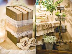 adornos de bodas con libros viejos - Buscar con Google