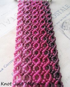 Micromacrame knotting with ombre shading by Knot Just Macramé.