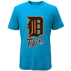 CCandy Detroit Tigers Youth D-Town Classic Tri-Blend T-Shirt - Turquoise - $16.99