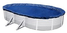 Blue Wave Oval Above Ground Winter Pool Cover - The Dirt Defender Gold grade cover is constructed of our strongest and most tear resistant material. This cover features rugged U. Big Swimming Pools, Above Ground Swimming Pools, In Ground Pools, Oval Above Ground Pools, Above Ground Pool Cover, Winter Pool Covers, Pool Sizes, Cool Pools, New Blue