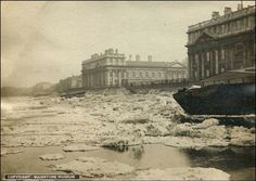 Frozen Thames at greenwich
