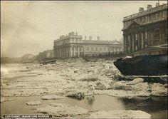 Frozen Thames at greenwich