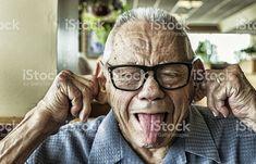 Drôle vieil homme Goofy Photo d'identité judiciaire photo libre de droits