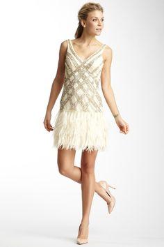 Short V-Neck Embellished Dress