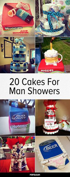Huggies and Chuggies: 20 Cakes For Your Partner's Man Shower instead of beer it should be redbull or monster or even 5 hour energy shots Diaper Parties, Baby Shower Parties, Baby Shower Themes, Baby Shower Gifts, Shower Ideas, Funny Baby Shower Cakes, Baby Showers, Baby Shower For Men, Man Shower