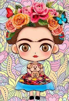 Diamond Painting Cartoon Girl Diy Diamond Embroidery Square / Round Full Drill Diamond Painting K Kahlo Paintings, Your Paintings, Animal Paintings, Frida Art, Embroidery Tools, Owl Cartoon, Cartoon Girls, Princess Cartoon, 5d Diamond Painting