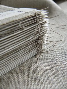 Linen Fabric Stitched Save the Shabby Chic Linen Save the Dates Making Life Easier, Gray Interior, Handmade Books, Book Binding, Linen Fabric, Save The Date, Book Art, Shabby Chic, Design Inspiration