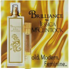 JESSICA MC CLINTOCK BRILLIANCE by Jessica McClintock EAU DE PARFUM VIAL ON CARD MINI (Package Of 4). Fragrances. 4 Pack. Authenic.