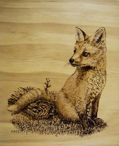 canadian Art of pyrography | Fox Pup Pyrography
