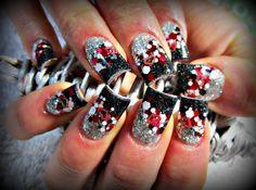 Darkness Falls by stephaniemercer - Nail Art Gallery nailartgallery.nailsmag.com by Nails Magazine www.nailsmag.com #nailart