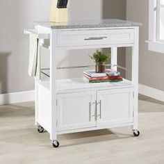 Great for Palouse Kitchen Island with Granite Top by Andover Mills kitchen dining furniture sale from top store Kitchen Island With Granite Top, Kitchen Island Cart, Granite Tops, Granite Countertops, Kitchen Islands, Kitchen Carts, Kitchen Pantry, Kitchen Ideas, Pantry Cabinets