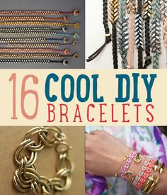 16 Cool DIY Bracelets   Learn how to make a variety of cool bracelets. We're sure going to try them. #DiyReady www.diyready.com