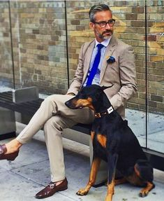 Suiting with man's best friend