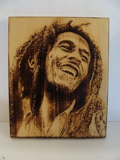 Bob Marley Pyroportraits Carving by PyroPortraits on Etsy Robert Nesta, Nesta Marley, Bob Marley Quotes, Reggae, First World, Artworks, First Love, Carving, History