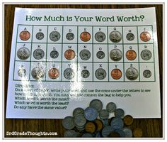 3rd Grade Thoughts: Word Work: How much are your spelling words worth?