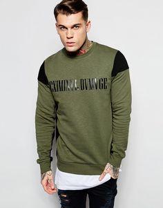 Image 1 of Criminal Damage Biker Sweatshirt
