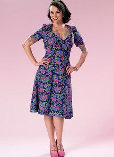 Patterns By Gertie for Butterick sewing pattern. B6380: Misses' Sweeheart-Neckline Dress with Gathered Bodice