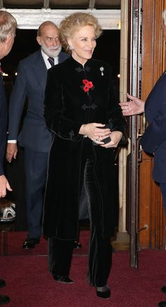 Prince and Princess Michael of Kent arrive at the Royal Albert Hal for the Annual Festival of Remembrance on November 7, 2015 in London, England. - The Royal Family Attends the Annual Festival of Remembrance