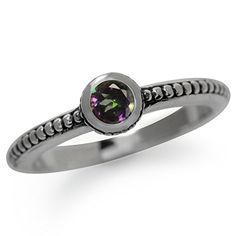 Mystic Fire Topaz 925 Sterling Silver StackStackable BaliBalinese Style Ring Size 55 ** Click image to review more details.