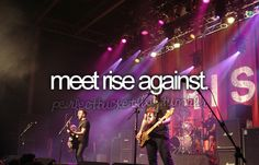 seeing rise against in concert july 3,2011 was amazing, and only meeting them with the group i was with could top it