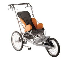 Kimba Cross and converts to a bicycle trailer.  great system for special needs now we need a Canadian supplier.  Braceworks in Calgary carries the sledge... maybe they carry this??