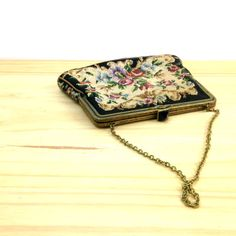 Antique Floral Tapestry Bag / Embroidered Clutch by VintageEdition